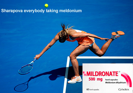 Maria Sharapova everybody taking meldonium