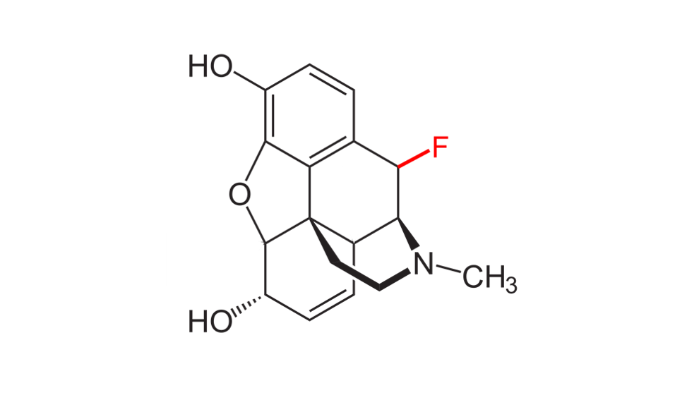 Chemical structure of fluorinated morphine